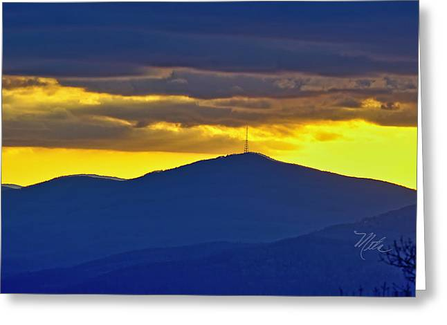 Grandmother Mountain Sunset Greeting Card