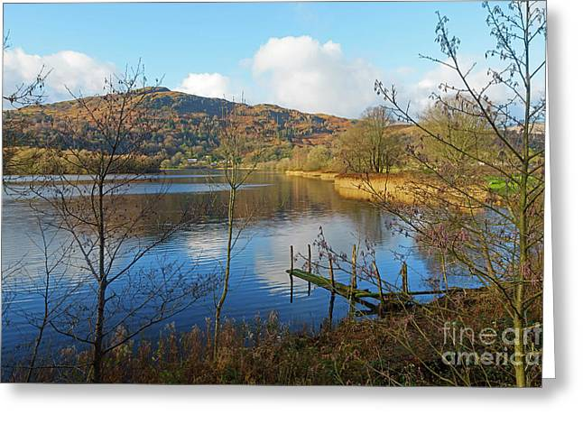 Grasmere In Late Autumn In Lake District National Park Cumbria Greeting Card