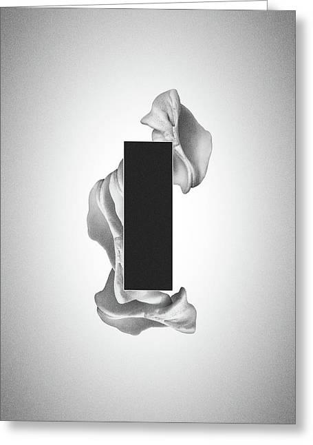 Gray Organon - Surreal Abstract Rectangle On Seashell Greeting Card