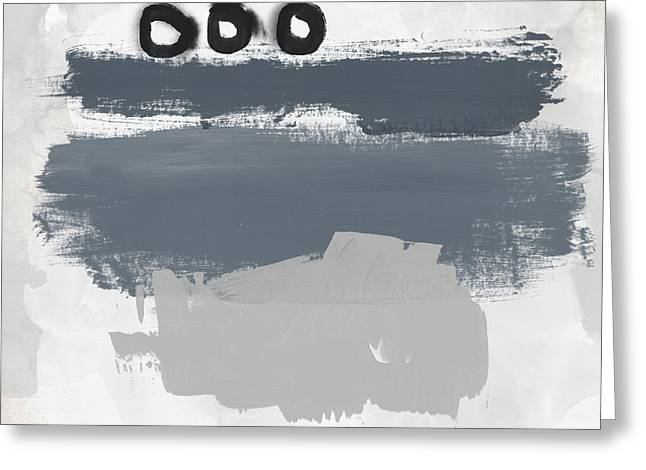 Greeting Card featuring the mixed media Grayscale 1- Abstract Art By Linda Woods by Linda Woods