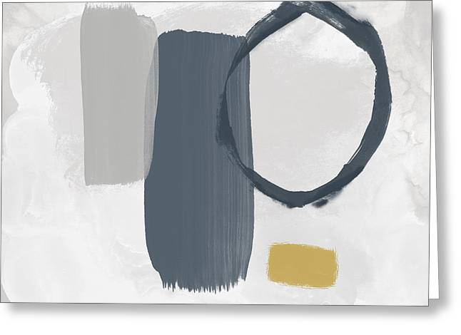 Greeting Card featuring the mixed media Grayscale 2- Abstract Art By Linda Woods by Linda Woods