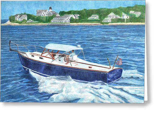 Great Ackpectations Nantucket Greeting Card