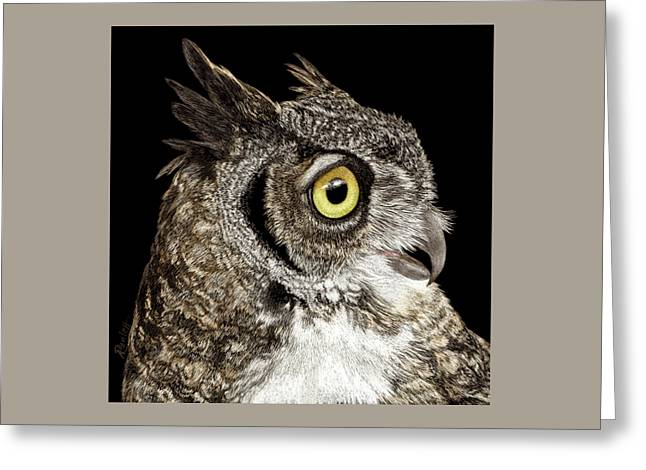 Great-horned Owl Greeting Card