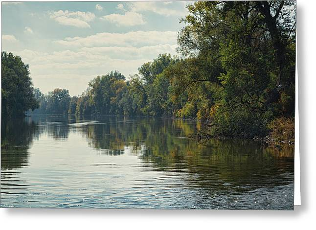 Greeting Card featuring the photograph Great Morava River by Milan Ljubisavljevic