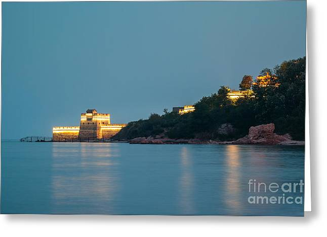 Great Wall At Night Greeting Card