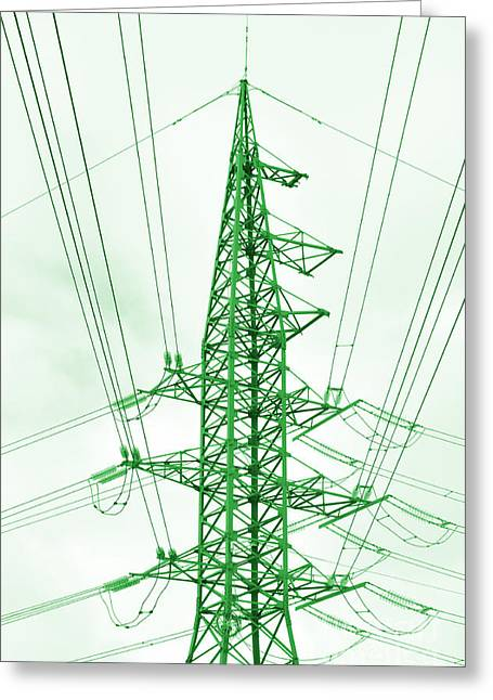 Green Energy Tower Greeting Card