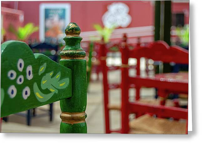 Green Fair Chair Greeting Card
