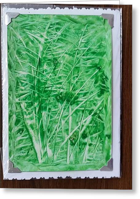 Green Jungle Greeting Card
