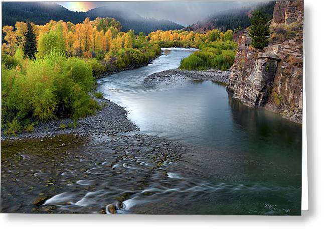 Gros Ventre Autumn Greeting Card