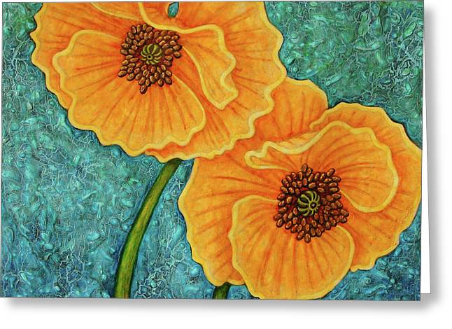 Greeting Card featuring the painting Growing Optimism by Amy E Fraser