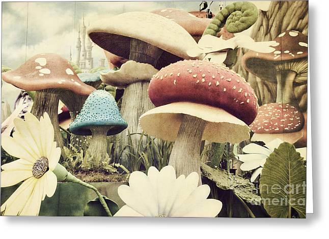 Grunge Textured Garden Greeting Card