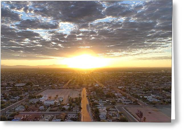 Guadalupe Sunset Greeting Card