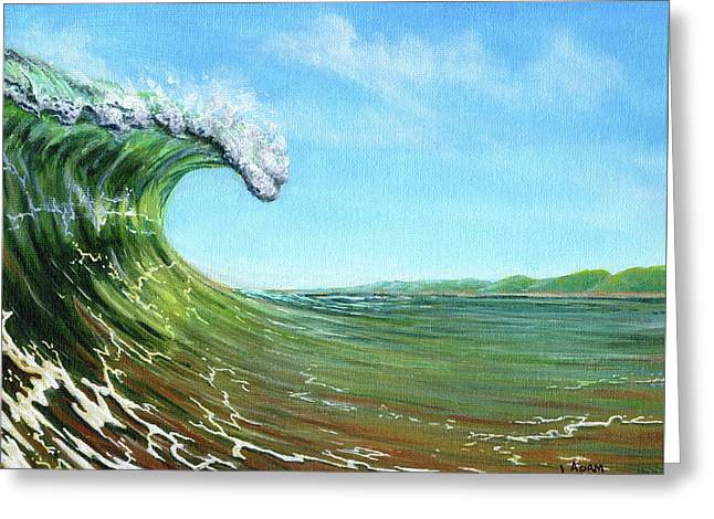 Gulf Of Mexico Surf Greeting Card
