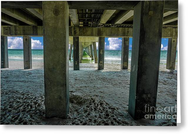 Gulf Shores Park And Pier Al 1649b Greeting Card