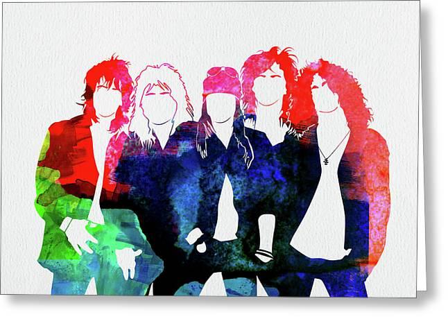 Guns N' Roses Watercolor Greeting Card