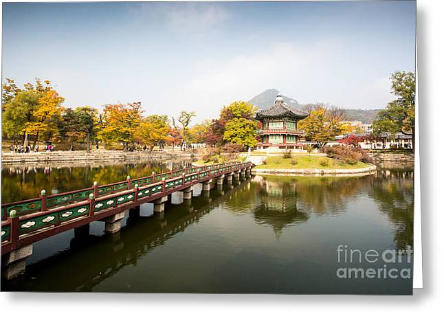 Gyeongbokgung Palace And Its Grounds On Greeting Card