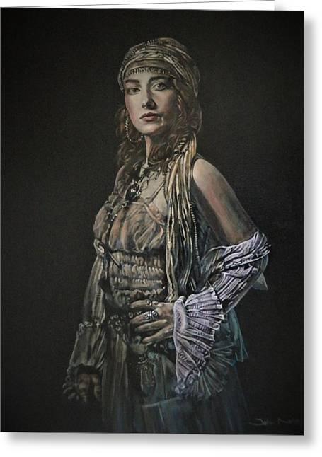 Gypsy Portrait Greeting Card