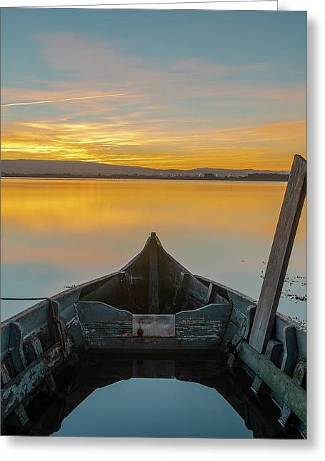 Greeting Card featuring the photograph Half A Boat by Bruno Rosa