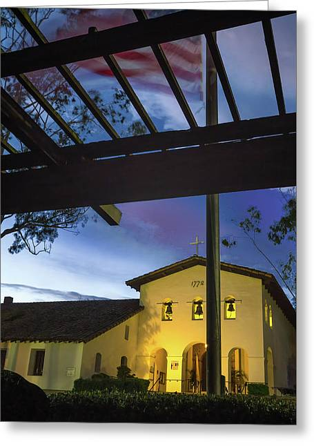 Half Staff At The Slo Mission Greeting Card