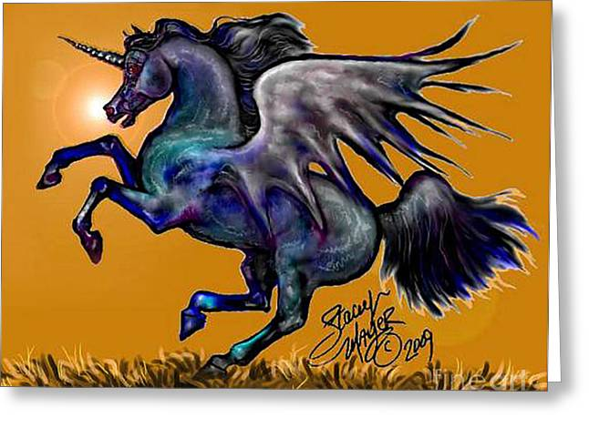 Halloween Fantasy Horse Greeting Card
