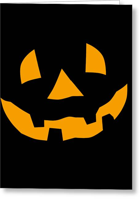 Halloween Pumpkin Tee Shirt Greeting Card