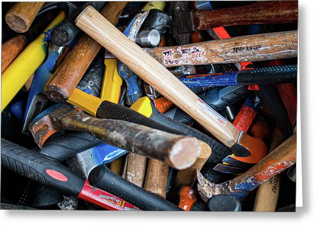 Greeting Card featuring the photograph Hammers by Jeff Phillippi