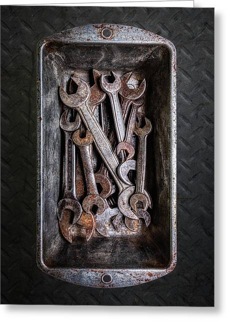 Hand Tools - Wrenches Greeting Card