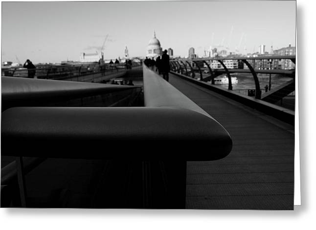Greeting Card featuring the photograph Handrail by Edward Lee