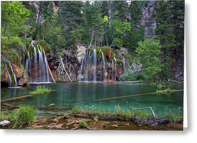 Greeting Card featuring the photograph Hanging Lake Colorado by Nathan Bush