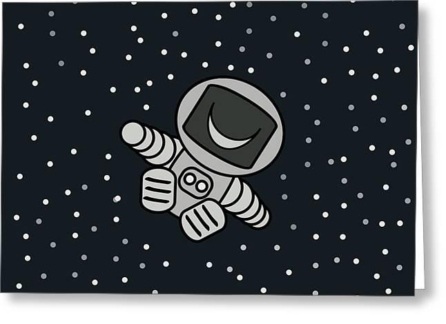Happy Astronaut Greeting Card