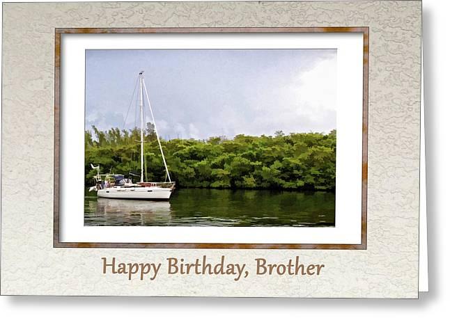 Happy Birthday, Brother Greeting Card