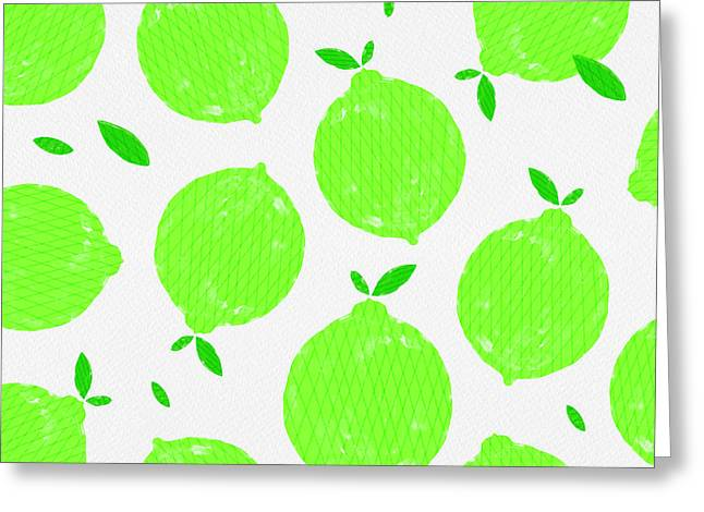 Happy Lime Print Greeting Card