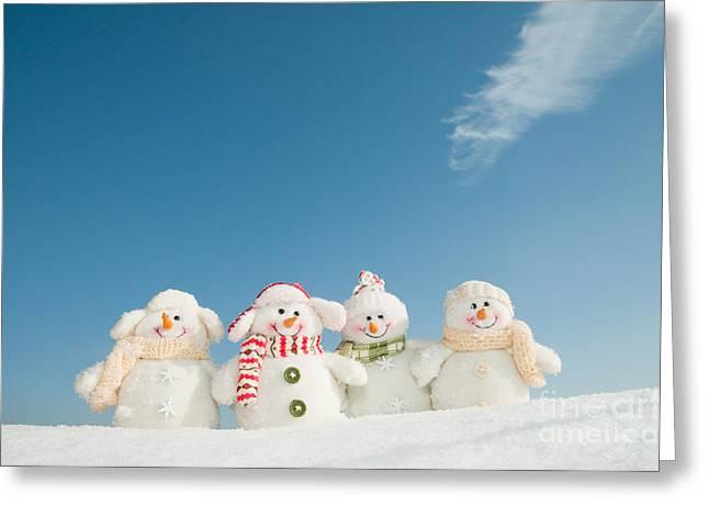 Happy Snowman Team Greeting Card