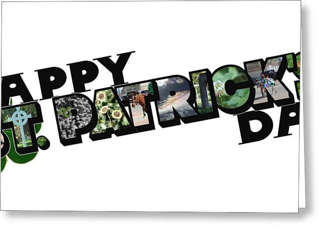 Happy St. Patrick's Day Big Letter Greeting Card