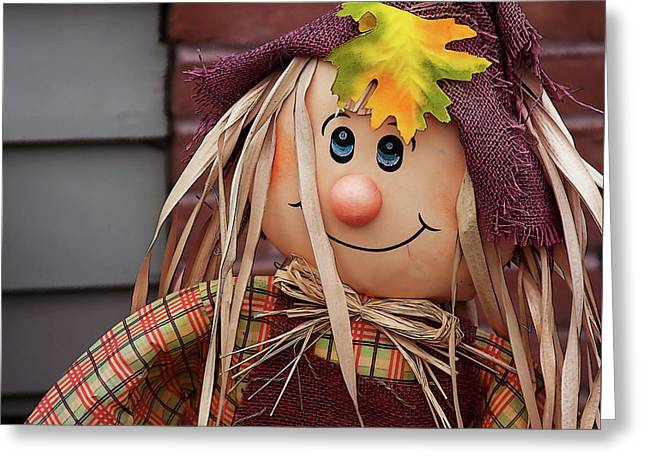 Greeting Card featuring the photograph Happy Thanksgiving Doll by Tatiana Travelways