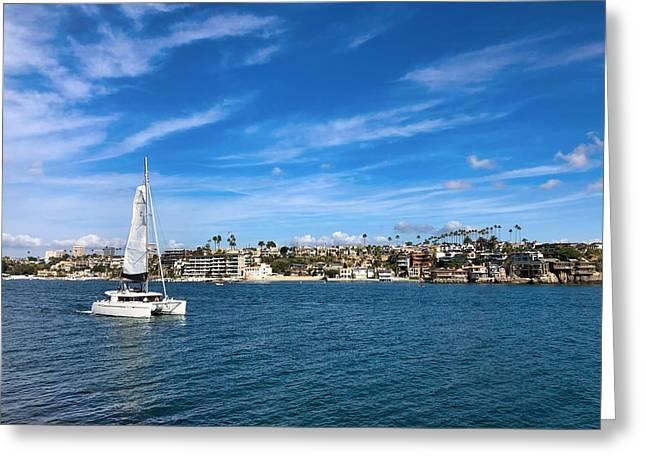 Harbor Sailing Greeting Card