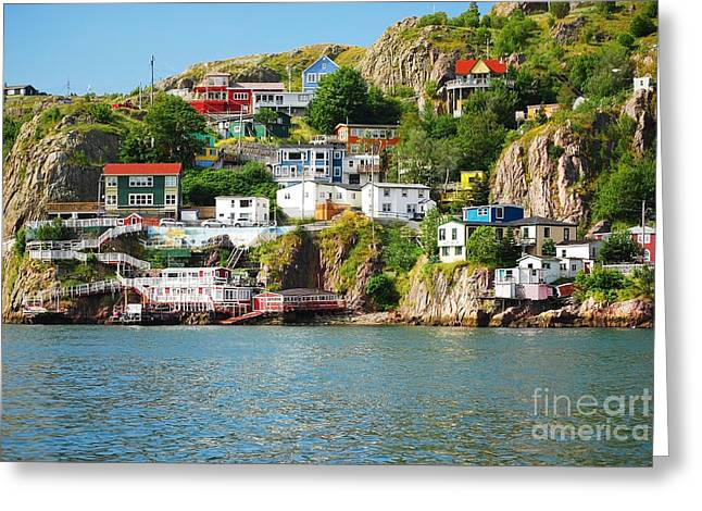 Harbour Front Village In St. Johns Greeting Card