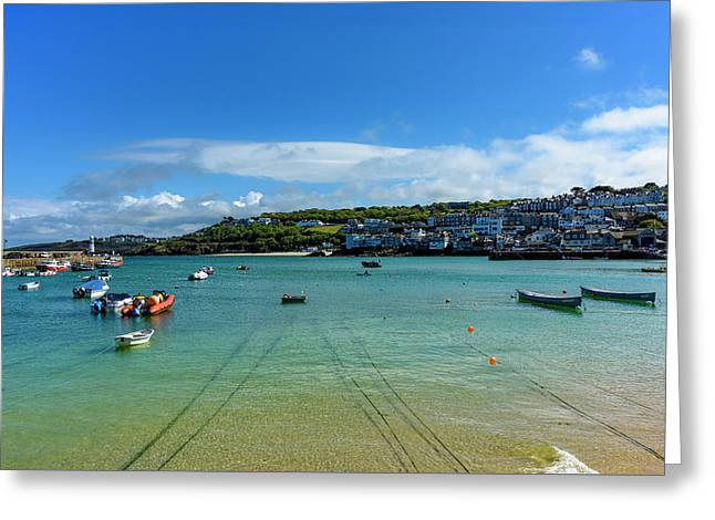 Harbour To Porthminster St Ives Cornwall Greeting Card