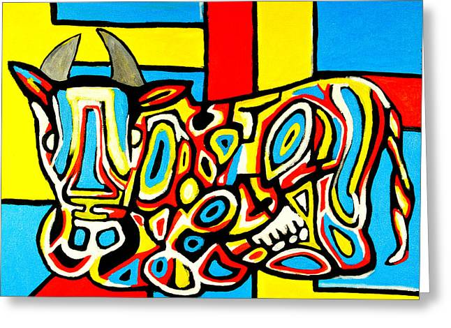Haring's Cow Greeting Card