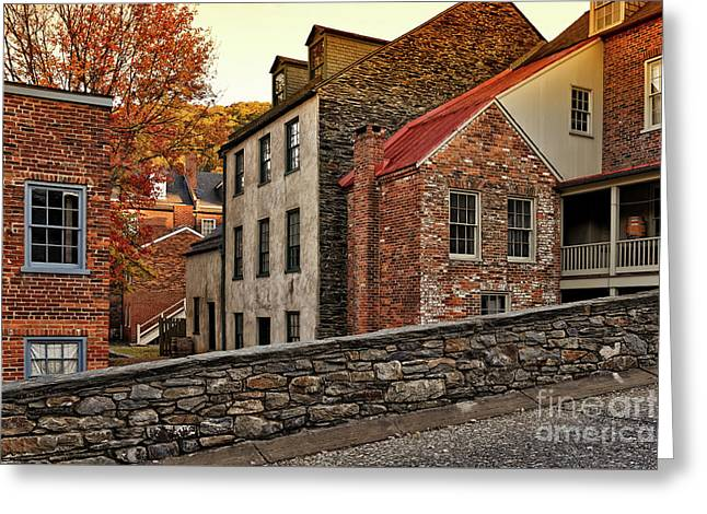 Harpers Ferry Back Street Greeting Card