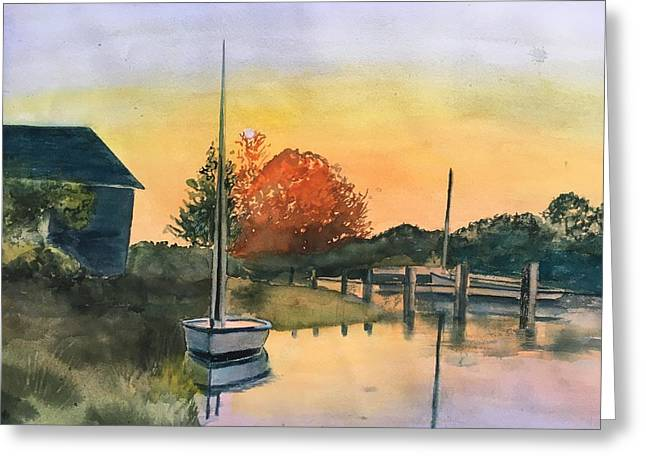 Harthaven Harbor, Mv Greeting Card