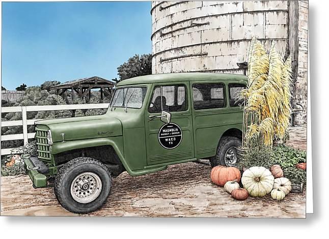 Harvest At Magnolia Greeting Card