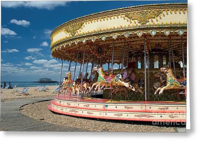 Having Fun On Brighton Beach, England Greeting Card