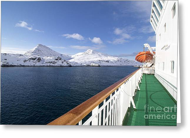 Havoysund From A Ship  Is The Greeting Card