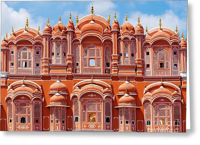 Hawa Mahal Palace Palace Of The Winds Greeting Card