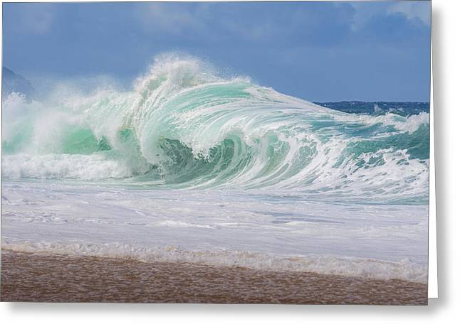 Hawaiian Shorebreak Greeting Card