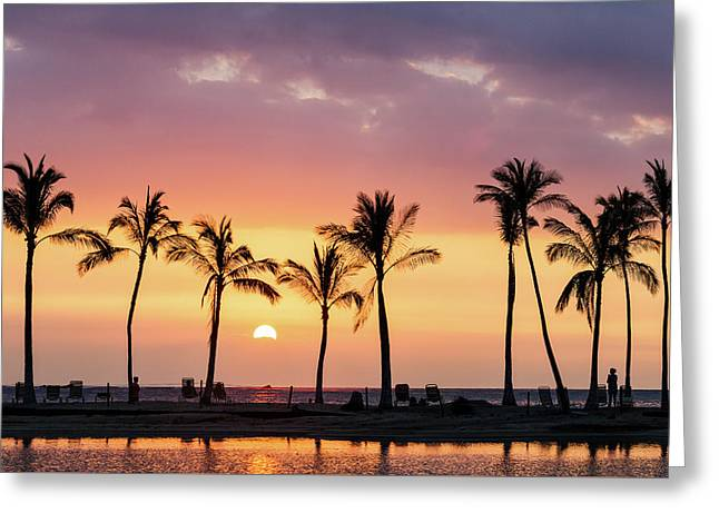 Greeting Card featuring the photograph Hawaiian Sunset by Nicole Young