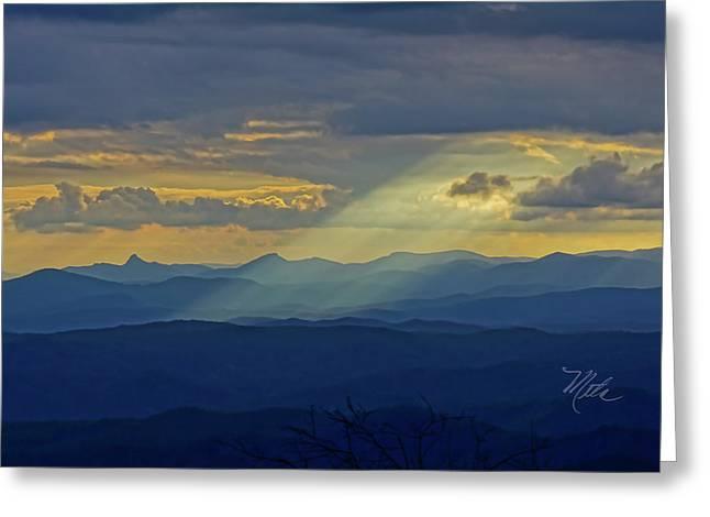 Hawks Bill Mountain Sunset Greeting Card