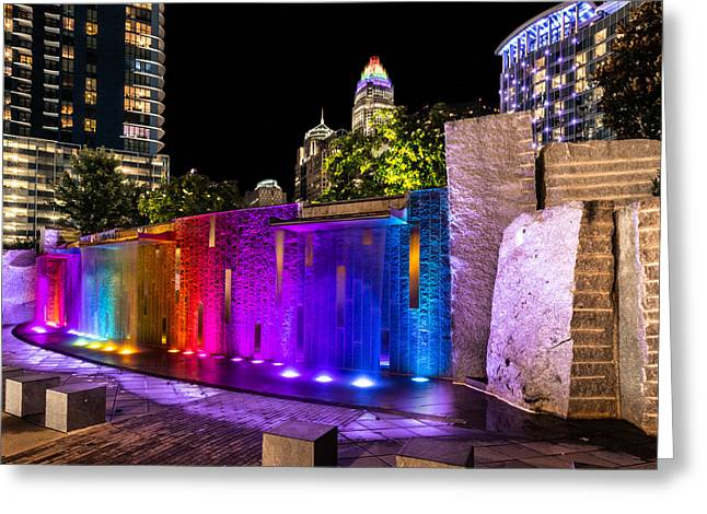 Hdr Rainbow Fountain Greeting Card by Christine Buckley
