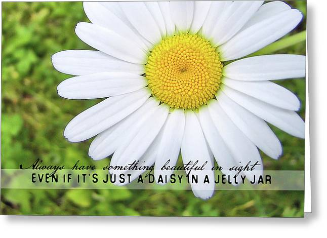 Greeting Card featuring the photograph He Loves Me Quote by JAMART Photography